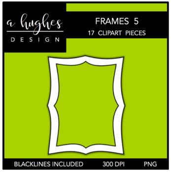 Page Frames Clipart Set: 5 {A Hughes Design}