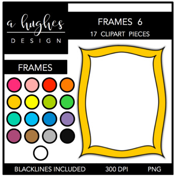 Page Frames Clipart Set: 6 {A Hughes Design}