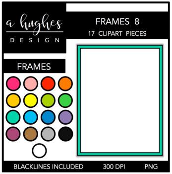 Page Frames Clipart Set: 8 {A Hughes Design}