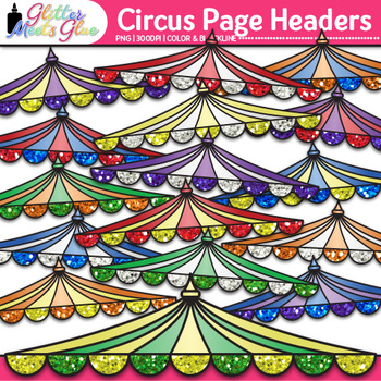 Circus Page Headers Clip Art {Design PowerPoint Presentations in Style}