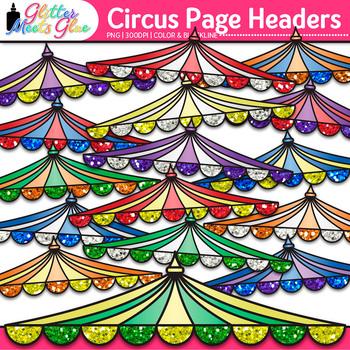 Big Top Circus Page Headers Clip Art {Design PowerPoint Pr