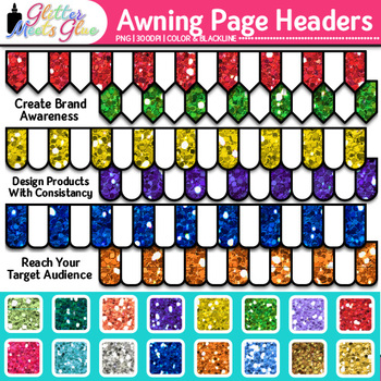 Awning Page Headers Clip Art {Design PowerPoint Presentations in Style}