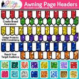 Awning Page Headers Clip Art {Design PowerPoint Presentati