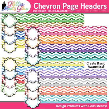 Chevron Page Headers Clip Art {Design PowerPoint Presentations in Style}