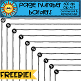 Page Number Borders FREEBIE Clip Art