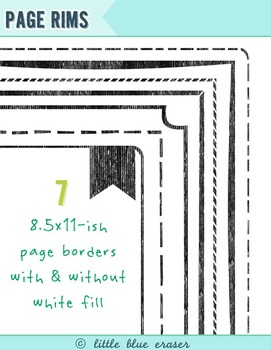 Page Rims | 8.5x11 borders