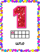 Page-Sized Numeral Posters 1-10 (Spanish Version)