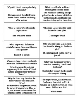 """Page Turners/Book Battles for """"The Book Thief"""""""