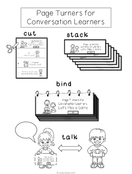 Page Turners for Conversation Learners- Mini-books to teach conversation skills