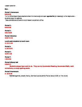 Page-a-Day Lesson Plan Template