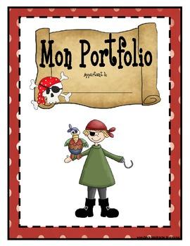 Page couverture pour le portfolio