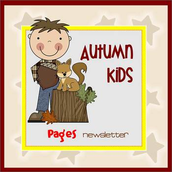 Pages - AUTUMN KIDS theme - Newsletter Template - For iPad
