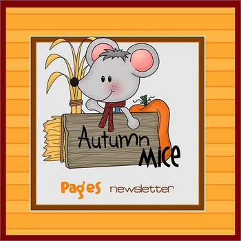 Pages - AUTUMN MICE theme - Newsletter Template - For iPad