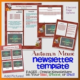 Pages - AUTUMN MOUSE theme - Newsletter Template - For iPads, iPhones, & Macs