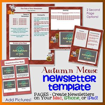 Pages - AUTUMN MOUSE theme - Newsletter Template - For iPa