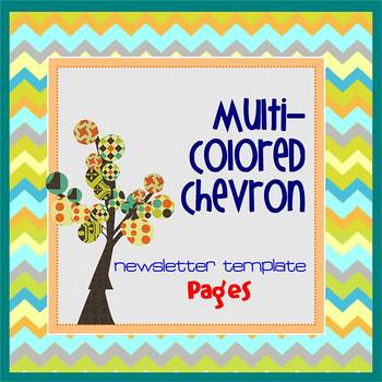 Pages - CHEVRON MultiColored - Newsletter - Create on iPads, iPhones, & Macs