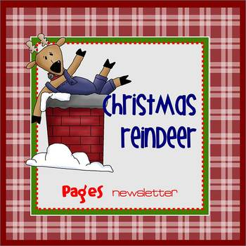 Pages - CHRISTMAS REINDEER - Newsletter template - For iPads, iPhones, & Macs