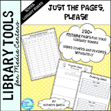 Library Planner Binders Pages & Forms ONLY  Editable