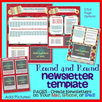 Pages - ROUND & ROUND - Newsletter Template - Create on iPads, iPhones, & Macs