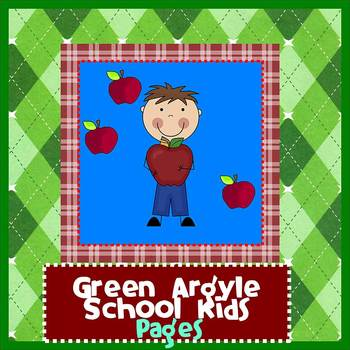 pages school kids green argyle newsletter template by the