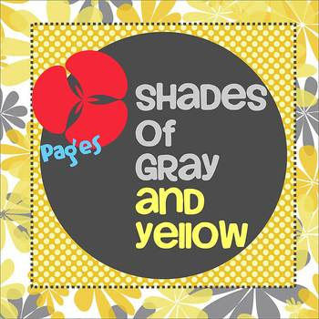 Pages - SHADES OF GRAY AND YELLOW - Newsletter - For iPads, iPhones, & Macs