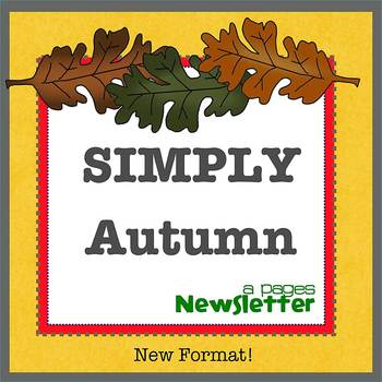 Pages - SIMPLY AUTUMN - Newsletter template - For iPads, iPhones, & Macs