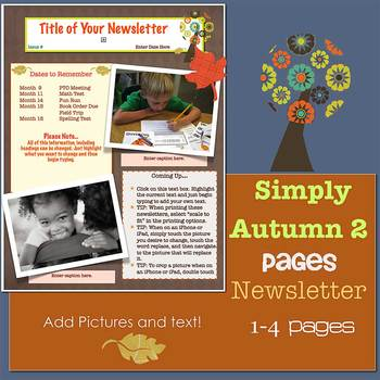 Pages - SIMPLY AUTUMN 2 - Newsletter template - For iPads, iPhones, & Macs