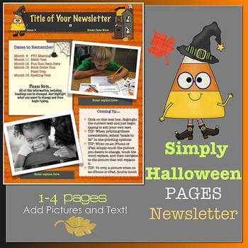 Pages - SIMPLY Halloween - Newsletter template - For iPads