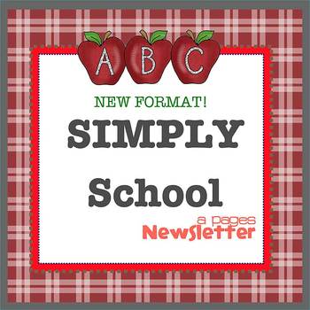 Pages - SIMPLY SCHOOL - Newsletter template - For iPads, iPhones, & Macs