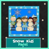 Pages - SNOW KIDS theme - Newsletter Template - For iPads, iPhones, & Macs