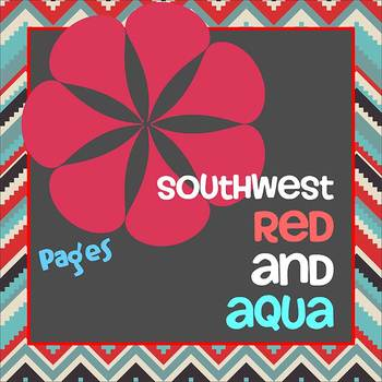 Pages - SOUTHWEST RED AND AQUA - Newsletter - For iPads, iPhones, & Macs