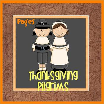 Pages - THANKSGIVING PILGRIMS - Newsletter Template - For
