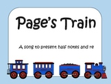 Page's Train - a song for half note and re