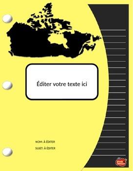 Pages couvertures pour cahiers interactifs / À Éditer