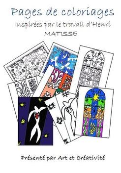 Pages de coloriage inspirées par le travail du célèbre pei