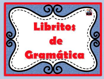 Paginas de Gramática con dibujo.  Grammar pages with clipart.