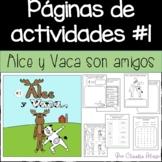 Páginas de actividades #1 {Alce y Vaca} GRATIS