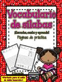 Páginas de práctica de vocabulario - Extensión de Las sílabas musicales