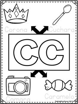 Páginas del Alfabeto - para colorear