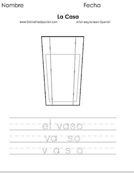 La casa - Spanish - Páginas para Colorear