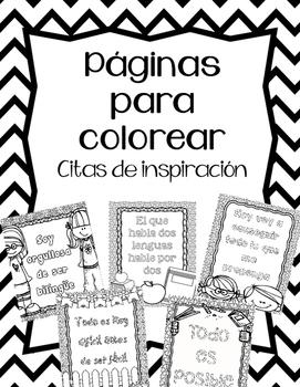 Paginas para colorear:Citas (Spanish coloring pages- quotes)