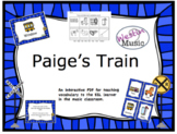Paige's Train: ESL Vocab, Flashcards, Worksheets