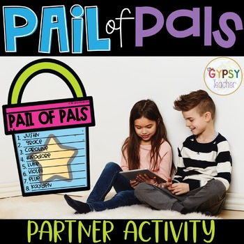 Pail of Pals Back to School Activity