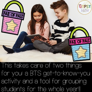Partner Activity - Pail of Pals