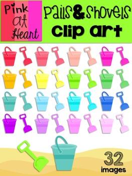 Pails and Shovels Clip Art