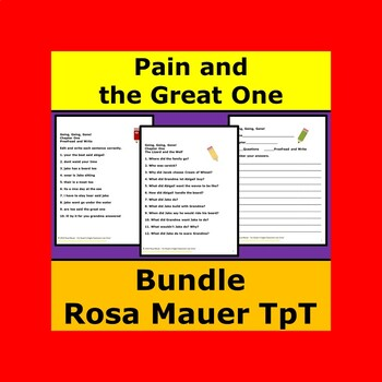 Pain and the Great One Book Units Bundle