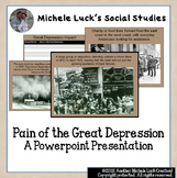 Pain of the Great Depression PPT w/Pictures & Descriptions