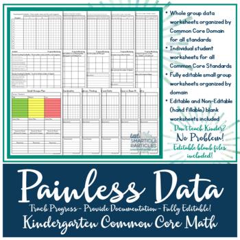 Data Tracking: Kindergarten Common Core Math Standards