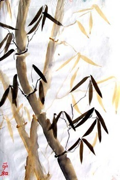 Paint Bamboo with watercolor