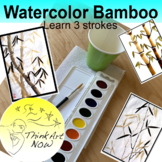 Art Lesson - Paint Bamboo with watercolor Think Art Now